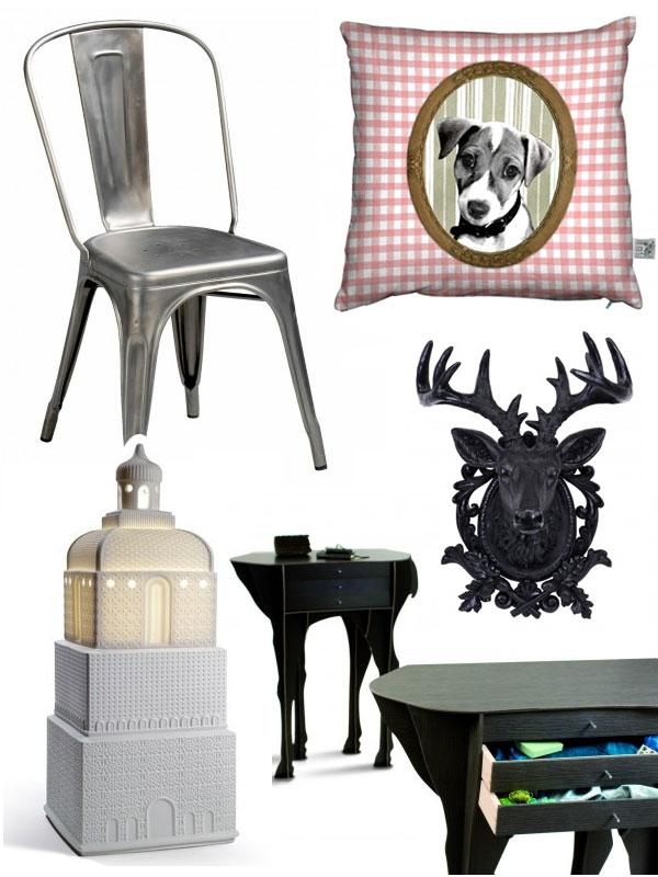 Chaise Tolix et autres objets de déco