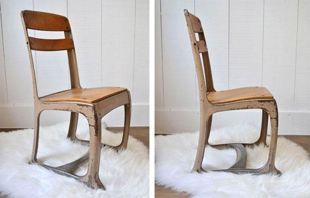 Chaise métal vintage