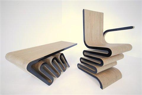 fauteuil et table basse design Franck et Mrs Franck