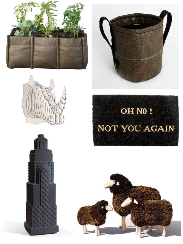 vase et sacs de jardinier design