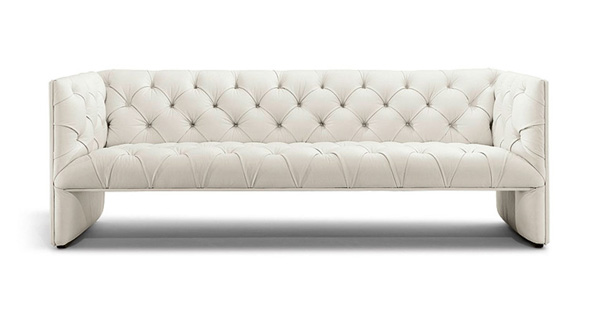 Canapé, sofa design Edwards blanc