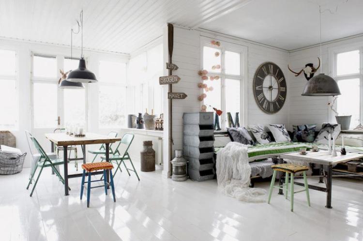 Ambiances vintage design bois et cuir pour votre int rieur - Deco murale industrielle ...