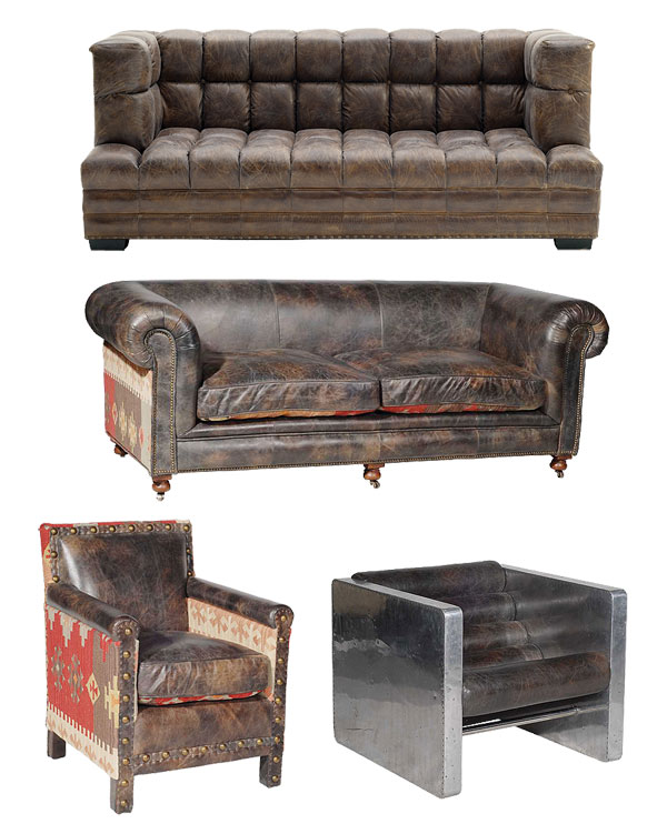canap s et fauteuils cuir vintage. Black Bedroom Furniture Sets. Home Design Ideas