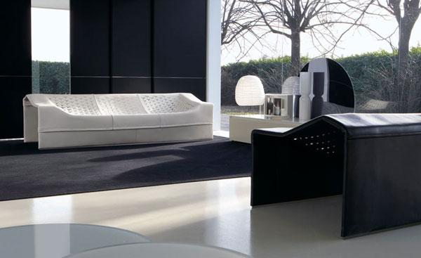 Canapé et fauteuil Skin par le designer Jean Nouvel