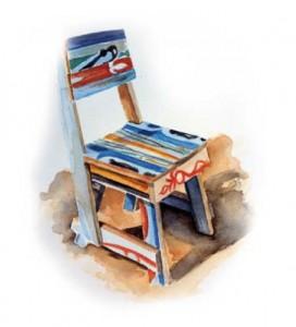 Chaise en bois recyclé