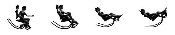 positions du fauteuil zéro garvité