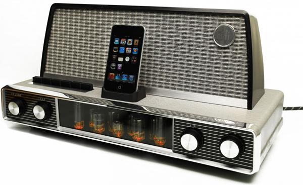 dock pour ipod et iphone rétro vintage