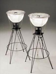 Lampe d'ambiance en matériaux de récupération