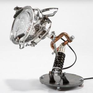 Lampe design en matériaux de récupération