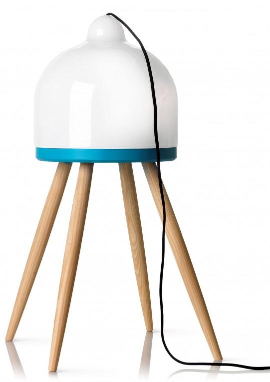 Lampe design pieds en bois
