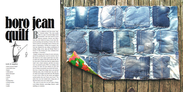 couverture en jeans