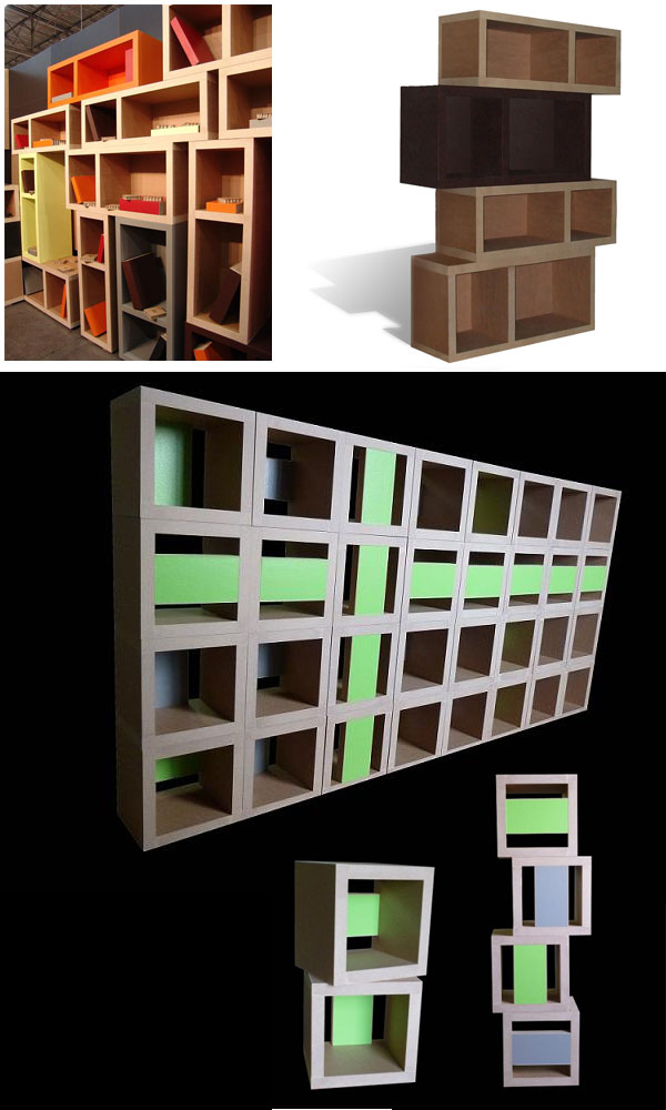 meubles en carton cartonstyl modulaires r sistant. Black Bedroom Furniture Sets. Home Design Ideas