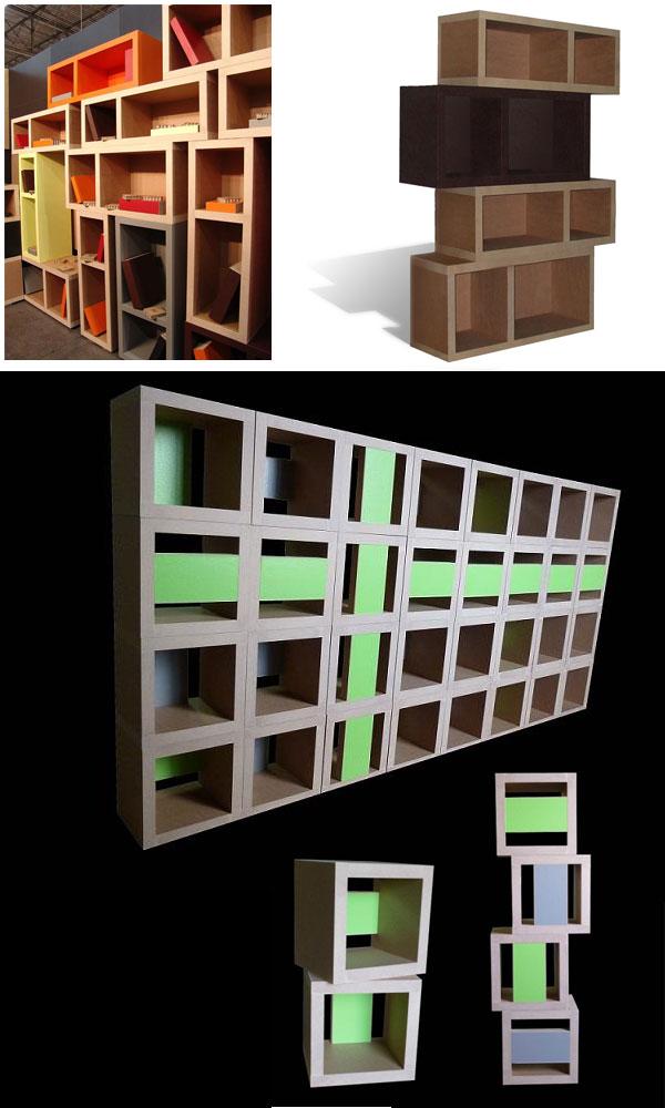 Meubles en carton cartonstyl modulaires r sistant for Meuble bureau ecologique