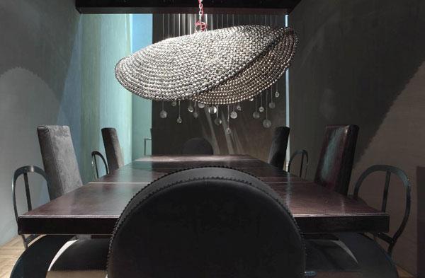 meubles cuir design, table et chaises