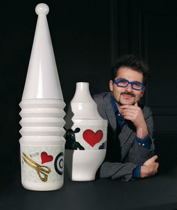 Vase deign Jaime Hayon pour Bisazza