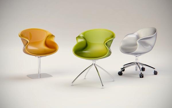 Chaise design Edios - déclinaisons