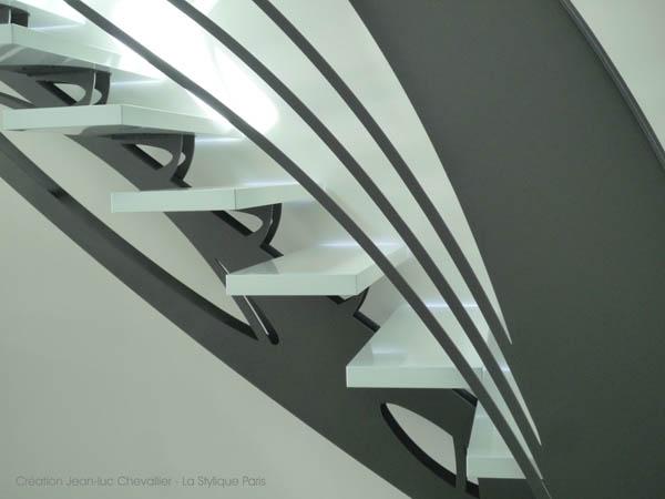 Escalier design style Art Nouveau