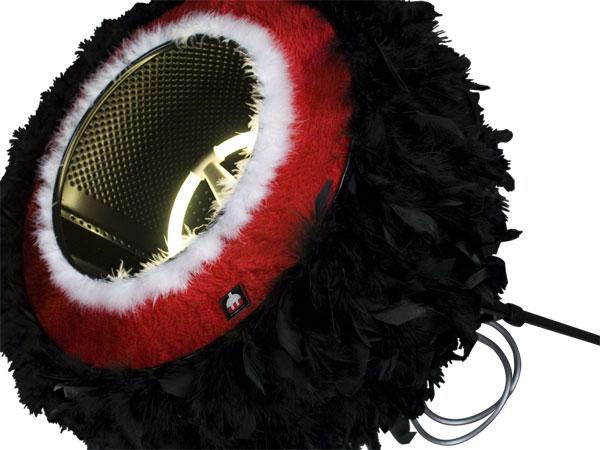Lampe design rewashlamp blackswan détails
