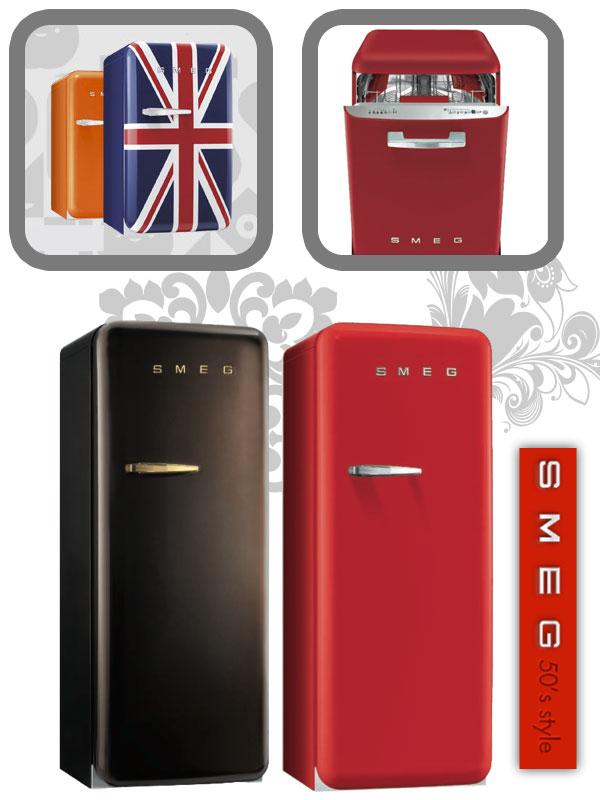 Réfrigérateurs et lave-linge smeg années 50