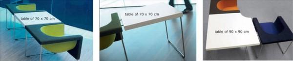 tablette Fauteuil design Nube de STUA