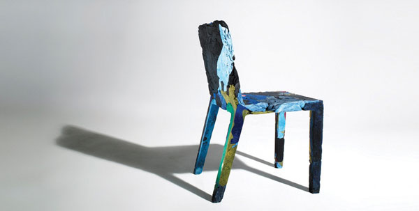 Chaise design en jeans recyclés rememberme