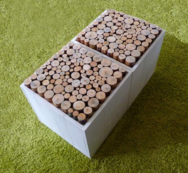Wood 39 insane design meubles et luminaires du design mais for Coffre de rangement interieur