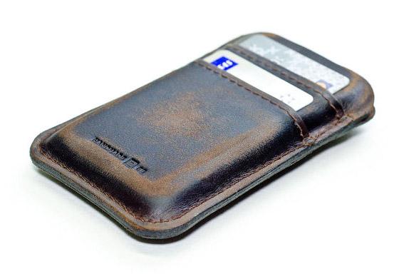 Etui en cuir souple pour iPhone et iPod