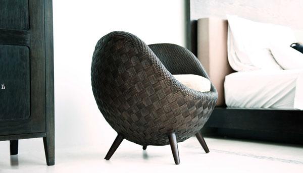 Mobilier design fauteuil et chaises fleur bloom osier et for Chaise osier tresse