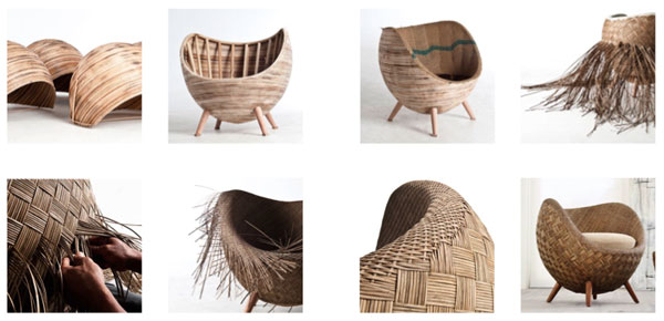 Iluminaci n moderna mimbre and chile on pinterest - Peindre un fauteuil en osier ...