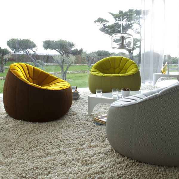 canap fauteuil pouf ottoman pour cinna par le designer. Black Bedroom Furniture Sets. Home Design Ideas