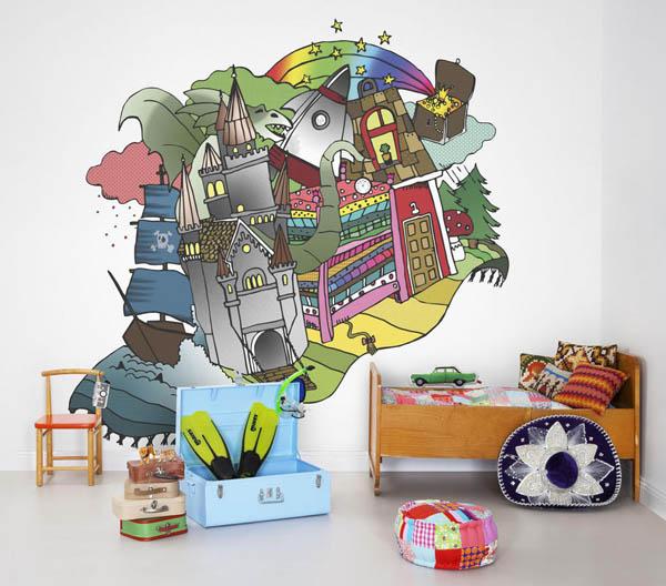 Papier peint - Décoration de mur personnalisée pour chambre d'enfant