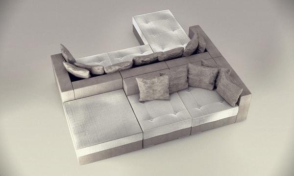 Sofa design modulable