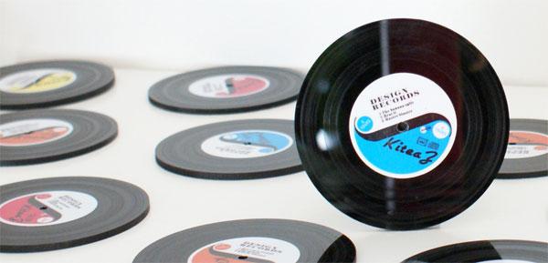 Sous-bock disque vinyle vintege déco