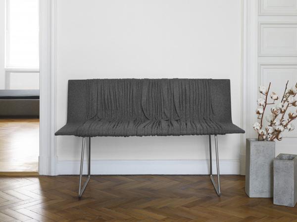Banc en tissu Série 25 par le designer Omer Arbel pour Bocci