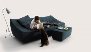 Canapé design en tissus Bahir pour Cor