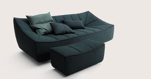 canap et fauteuil design bahir en tissu chez cor confort et espace. Black Bedroom Furniture Sets. Home Design Ideas