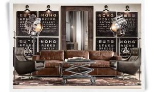 Canapé et fauteuils cuir vintage