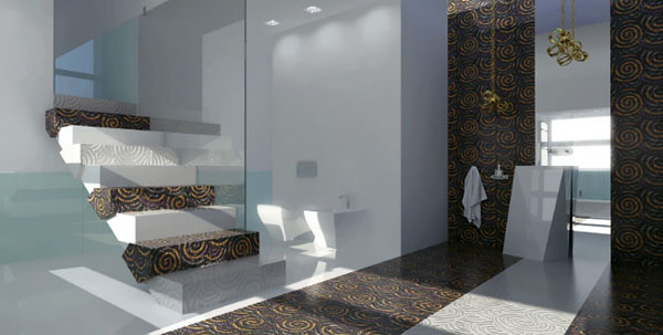 Architecture et design d'intérieur, un habillage d'escalier