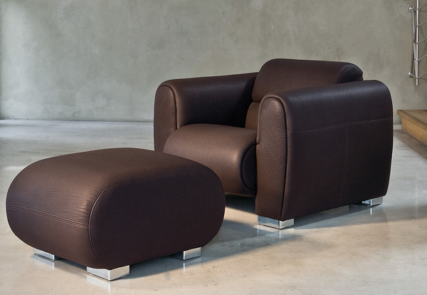 Fauteuil design cuir style club
