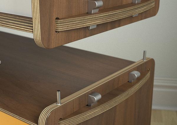 Syst me de meuble de rangement modulaire key par housefish for Architecture modulaire