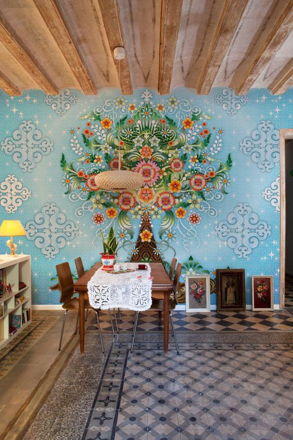 papier peint intiss les fresque de catalina estrada. Black Bedroom Furniture Sets. Home Design Ideas
