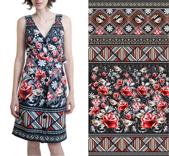 Robe motifs Catalina Estrada