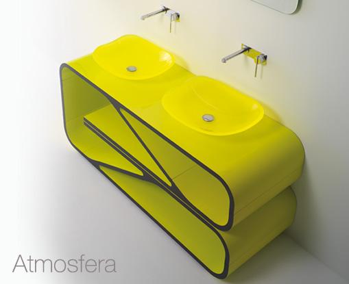 Meubles de salle de bain design seventies Bandini