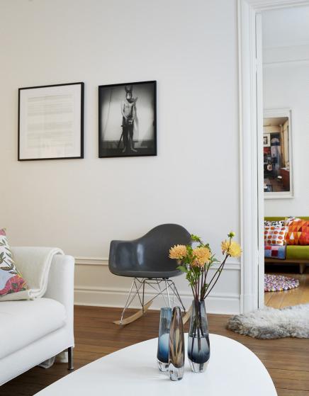 Salon design avec chaise RAR de Eames