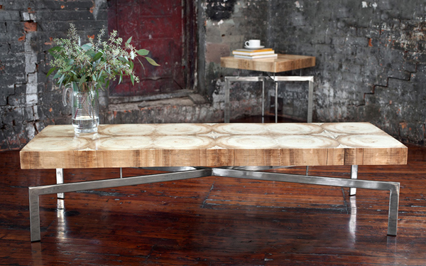 Meubles design en bois recycl tables basses tabourets - Table basse design en bois ...