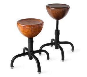 Tabourets en bois et pieds métal