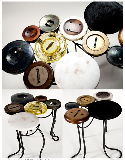 tables boutons