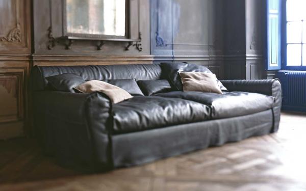 Canapé cuir design pour Baxter