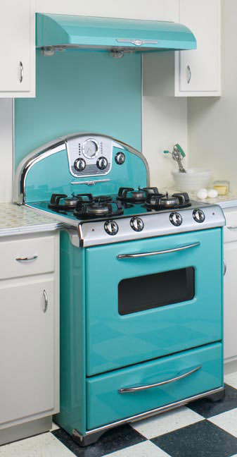 Teal Kitchen Island For Sale