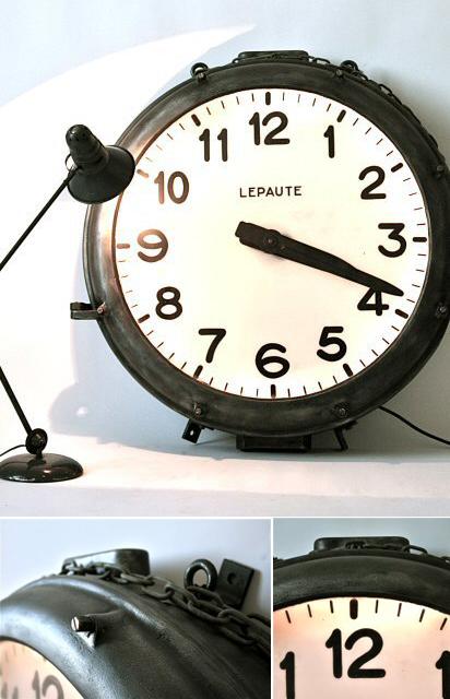 Horloge style industriel Lepaute